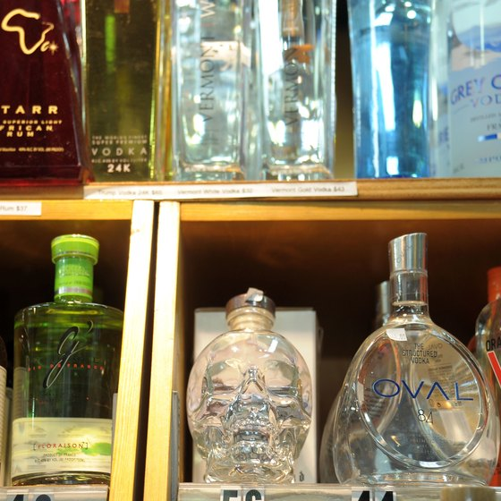 Liquor is sold by the bottle in private or government-owned stores.