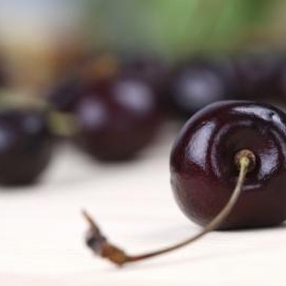 Black cherries.