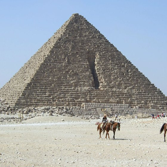 Three Famous Pyramids in Giza
