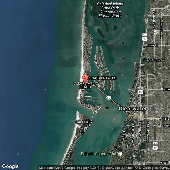 Map Of Clearwater Fl And Surrounding Towns: City Map Of Clearwater Clearwater Beach Fl Map on