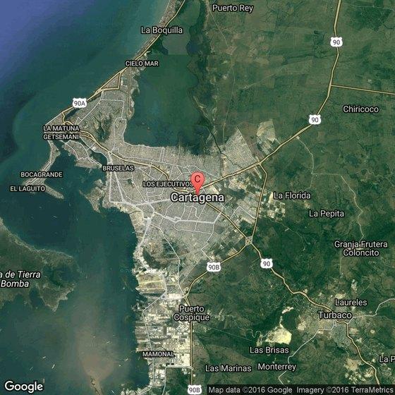 Seafood Restaurants In Cartagena Colombia USA Today - Cartagena de indias map