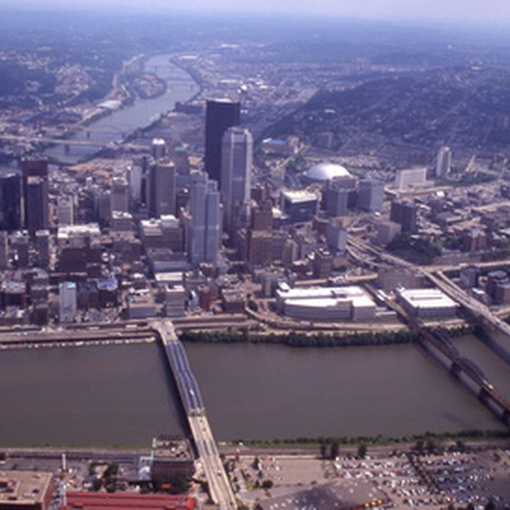 Downtown Pittsburgh from above