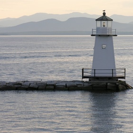 A lighthouse on Lake Champlain.