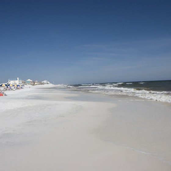 Enjoy miles of white sand beaches in Nokomis, Florida.