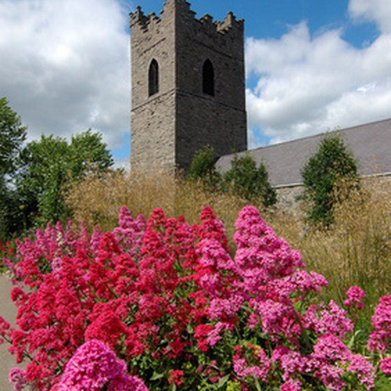 Many of Ireland's ancient castles feature stunning gardens.