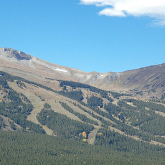 You will find multiple ski resorts just west of Denver, Colorado.