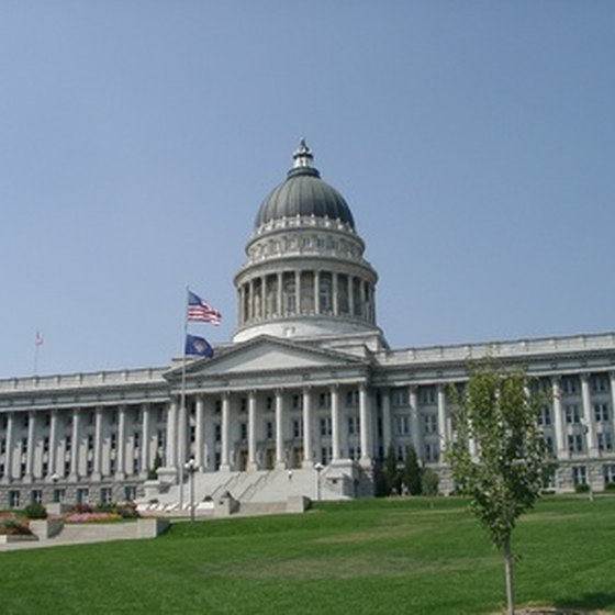 Utah state capitol building in Salt Lake City