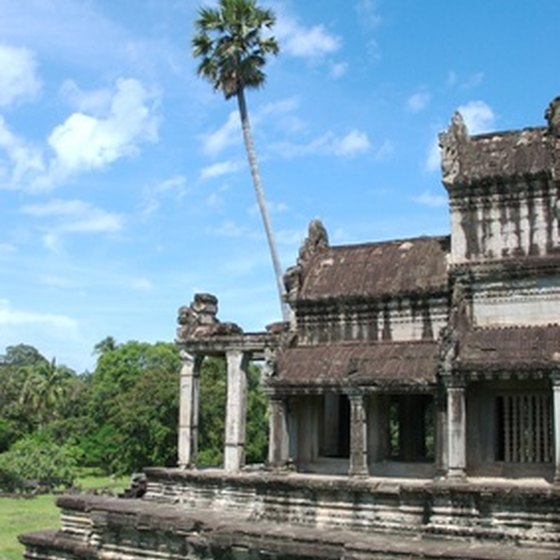 A library in Angkor Wat
