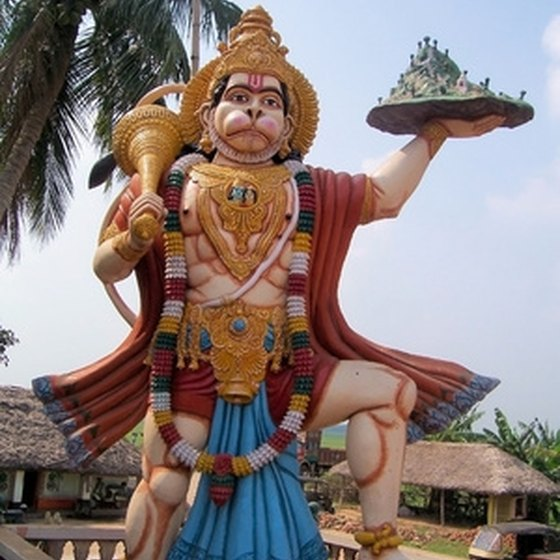 Hindi god statue in India