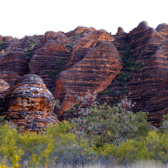 Striped sandstone structures in Western Australia's Bungle Bungle range