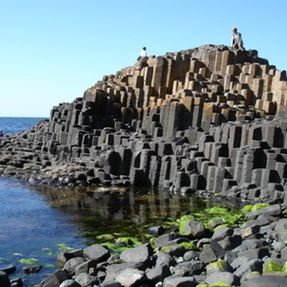 The Giant's Gauseway is one of Northern Ireland's popular tourist attractions