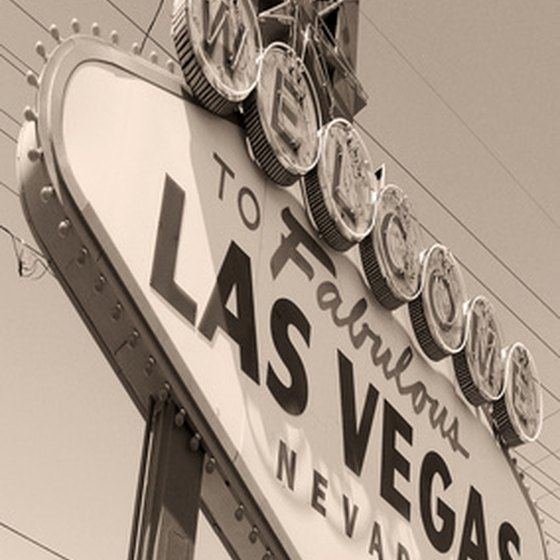 The iconic sign welcomes visitors to Las Vegas.