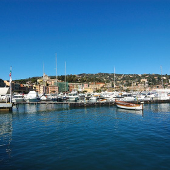 Santa Margherita is a relatively peaceful town along the Italian Riviera.