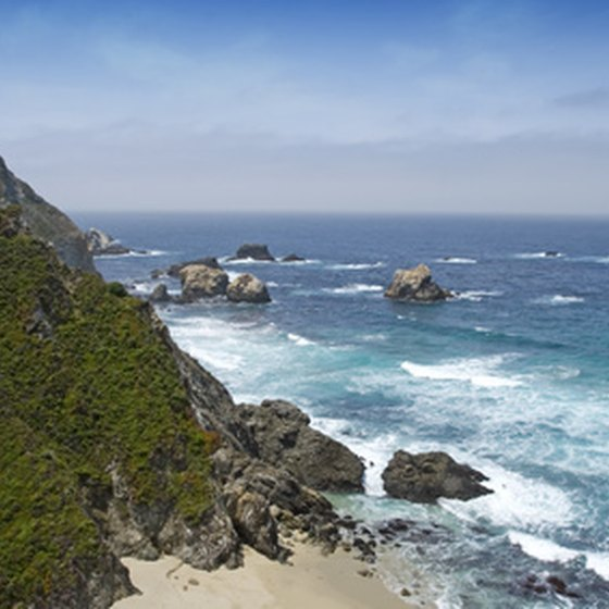 RV campsites along the California coastline offer beachfront sites.
