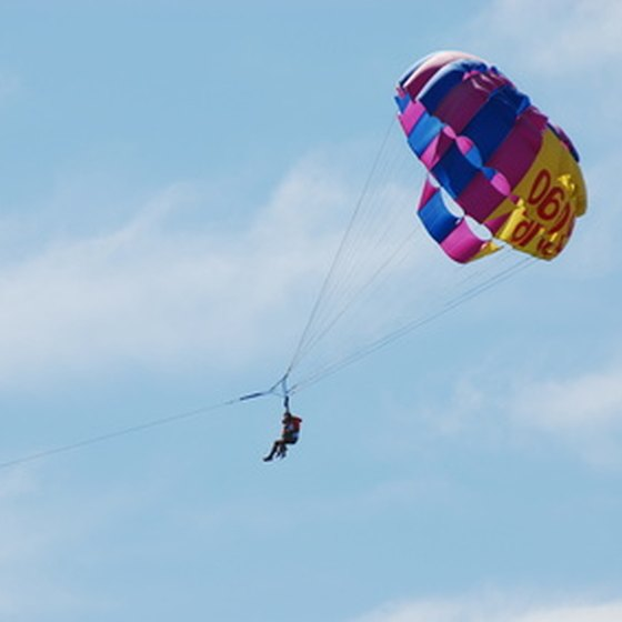 California parachuting benefits from mild weather year-round.
