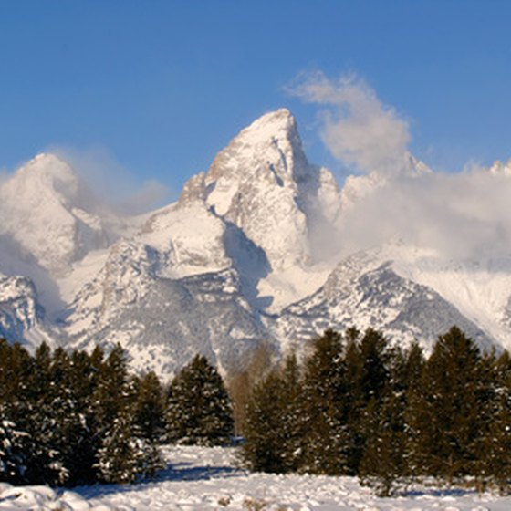 Grand Teton is one of the mountains you'll see.
