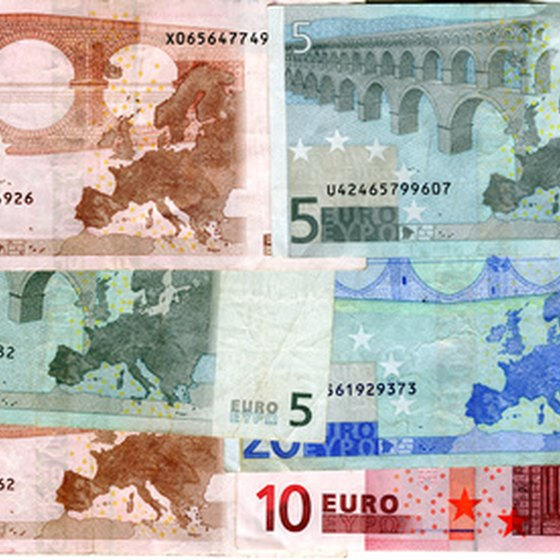 Most of the currency is in Euros.