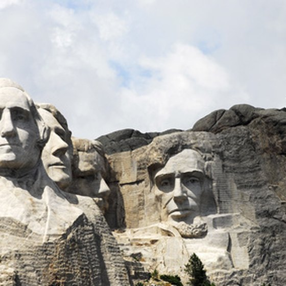 Mount Rushmore Memorial, one of the major attractions in the Great Plains