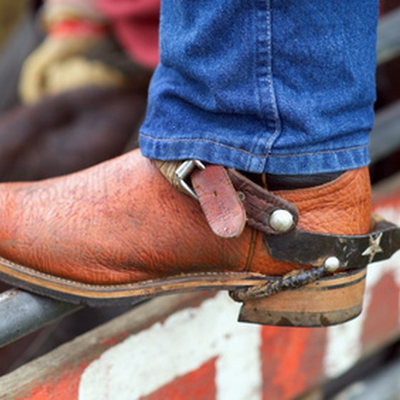 One of the largest amateur rodeos in Texas is held in Bowie.