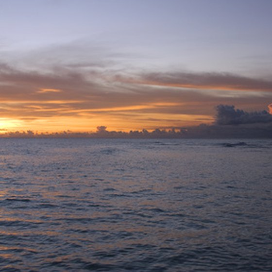 Guests at resorts on the west coast of Barbados enjoy spectacular sunsets.