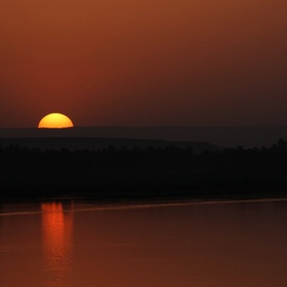 Desert sunsets figure prominently on Nile cruises.