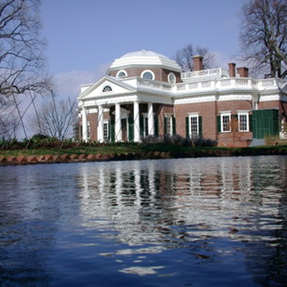 Thomas Jefferson's Monticello is one of Virginia's most famous plantations.
