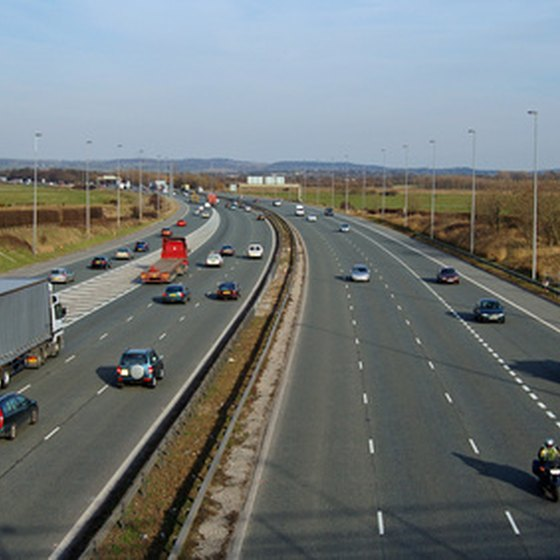 The M6 motorway