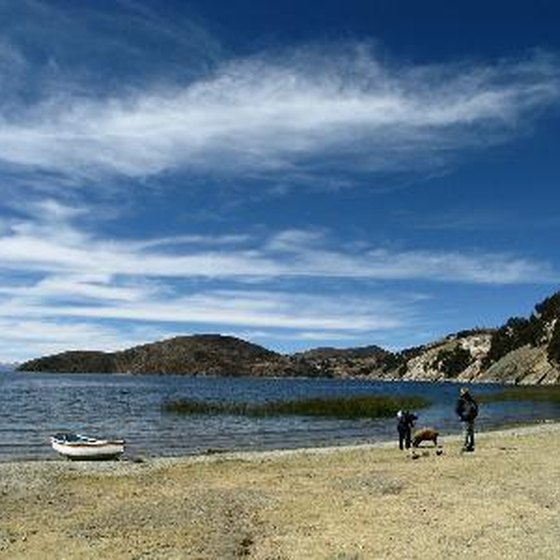 Lake Titicaca, high in the Andes mountain range, is a major tourist attraction.