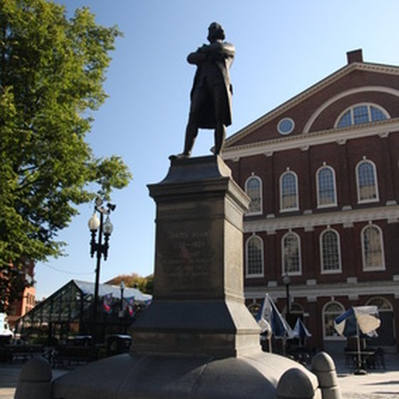 Faneuil Hall is along the Freedom Trail.