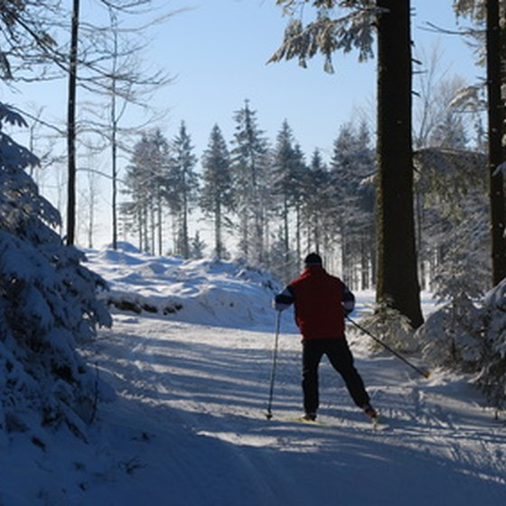 The area has hundreds of miles of trails for Nordic skiing.