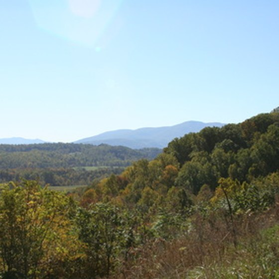 The Blue Ridge mountain range runs through north Georgia.