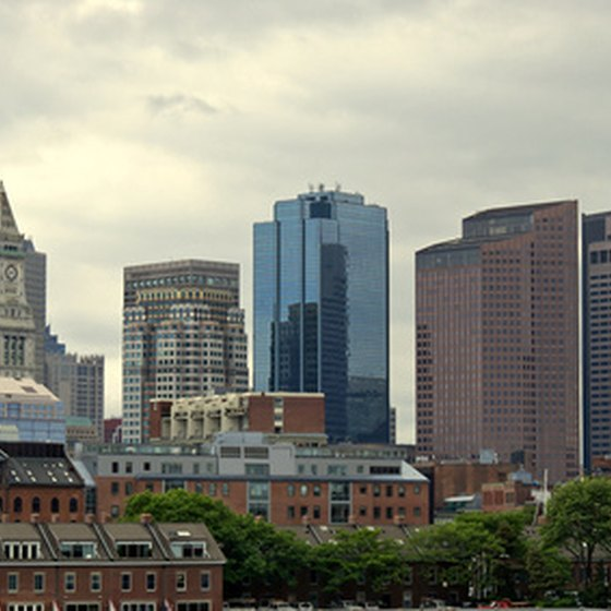 The Boston skyline.