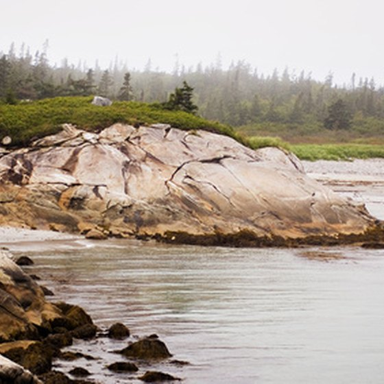 Coastal scenery in Canada's Kejimkujik National Park.