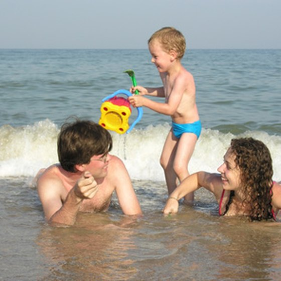 The beach is just one of many ideal family fun vacation destinations.