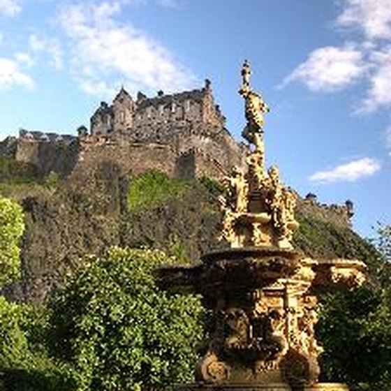 The Edinburgh Castle in Scotland is one of many venues available on combined British and Irish tours.