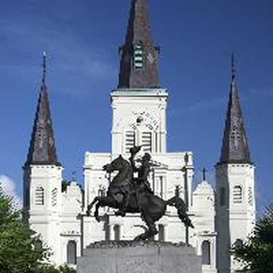 A statue of Andrew Jackson decorates Jackson Square.