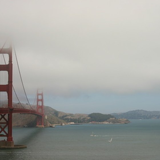 The Golden Gate Bridge is one of the most famous sites in San Francisco.