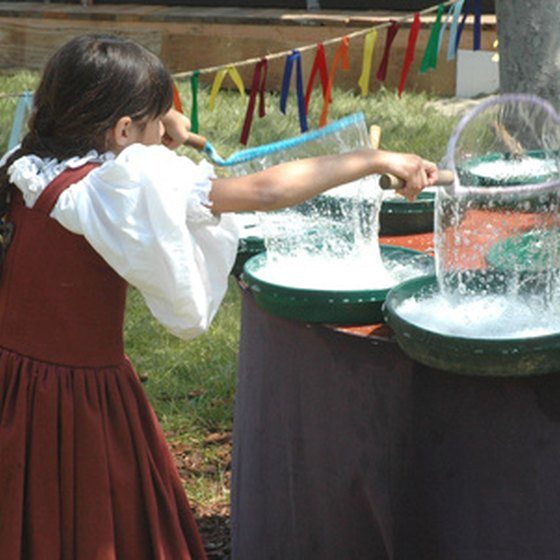 Festival games include both traditional and modern inventions.