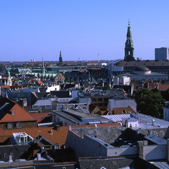 View over the city center of Copenhagen