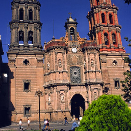 Colonial cathedral in Mexico