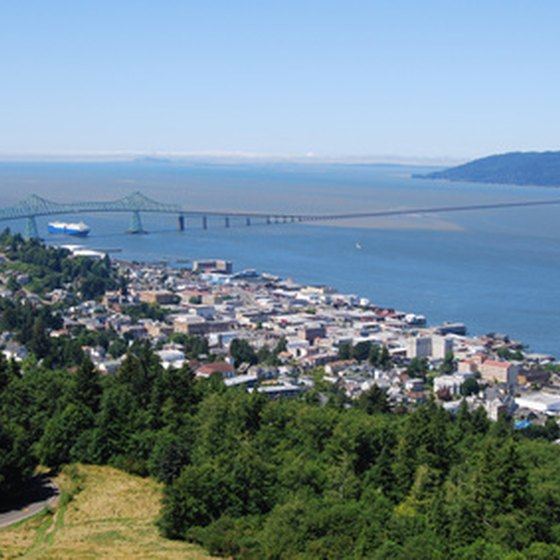 Astoria offers scenic beauty at the mouth of the Columbia River in Oregon.