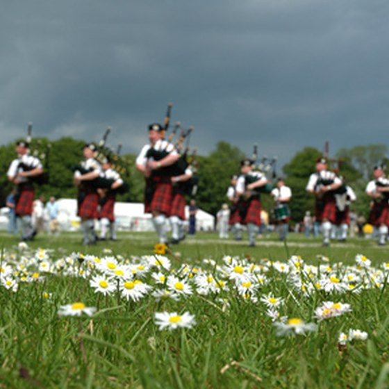 The Scottish use bagpipes in their traditional music