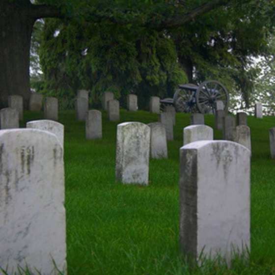 The National Cemetery at Shiloh holds the remains of 4,000 soldiers and their families.