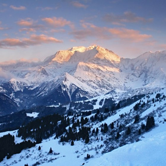 Mont Blanc is Western Europe's highest peak.