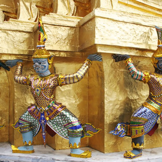 The sculptures of the Grand Palace are a boat or taxi ride away from Central Bangkok.
