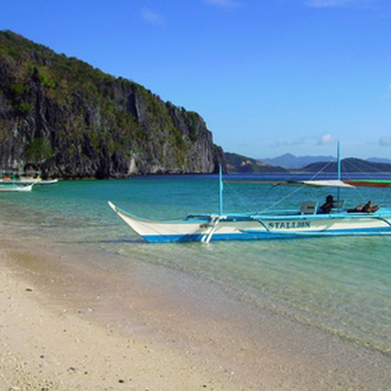 A beach in the Philippines.