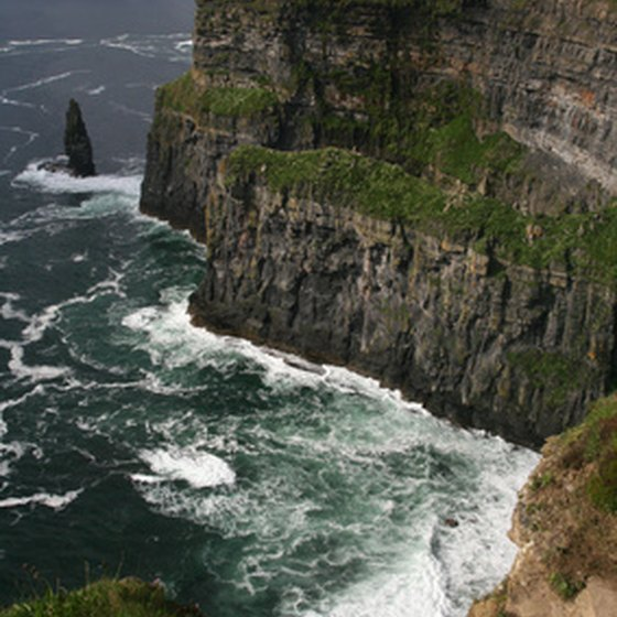 Photograph the Cliffs of Moher on a two-day tour of Ireland.