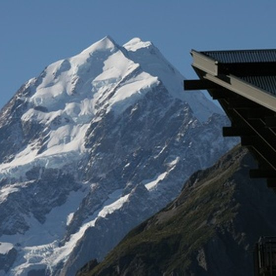 Mount Cook figures prominently on many New Zealand motorcycle tours.
