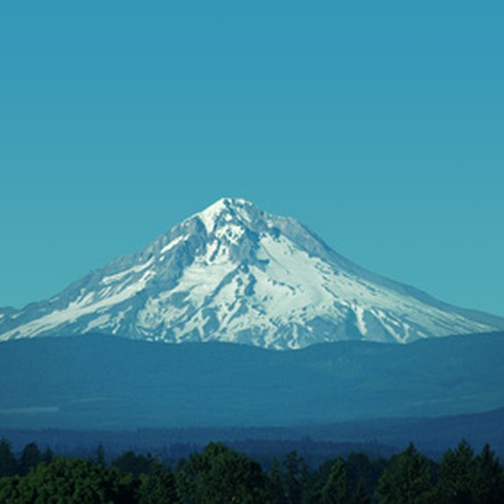 Mount Hood in Oregon is home to extensive hiking trails.