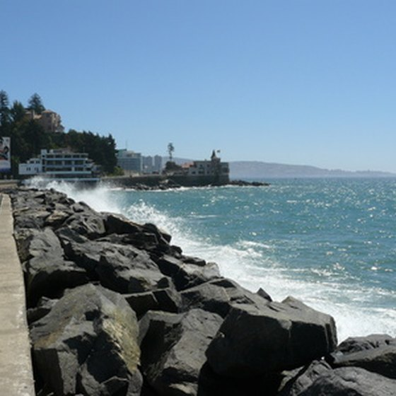 Viña del Mar coastline in Chile